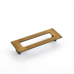 Baldwin 4464112 Melon Cup Cabinet Pull in Aged Bronze