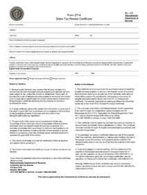 MA Resale Certificate